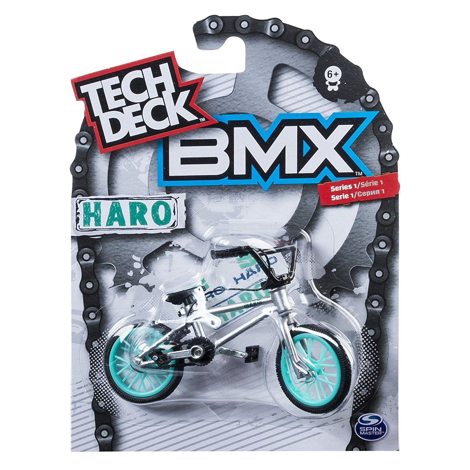 Brand new Tech Deck BMX Finger Bike Haro Grey
