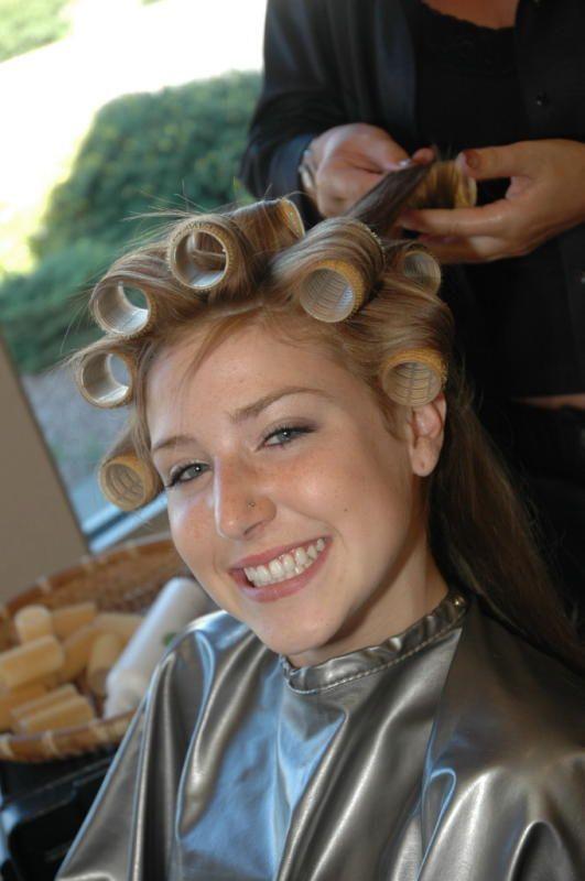 mom puts curlers in boys hair 1daf sleep in hair rollers hair curlers rollers sandy hair