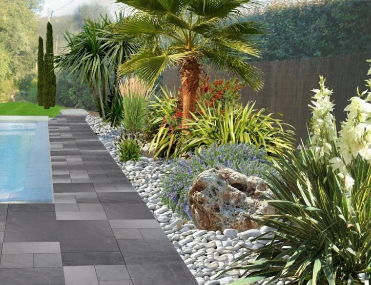 Modèle de jardin avec galets en 26 exemples inspirants | jardin ...