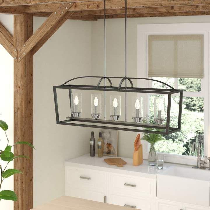 Conrad 5 light kitchen island linear pendant modern
