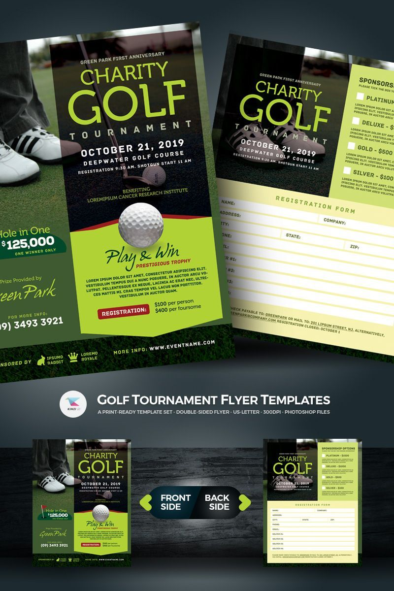 golf tournament flyer psd template psd tournament golf flyer