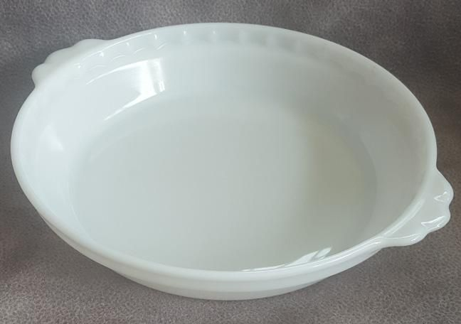 Vintage Pyrex Milk Glass Pie Plate Fluted with Handles 8 -1/2 Inch 228 & Vintage Pyrex Milk Glass Pie Plate Fluted with Handles 8 -1/2 Inch ...