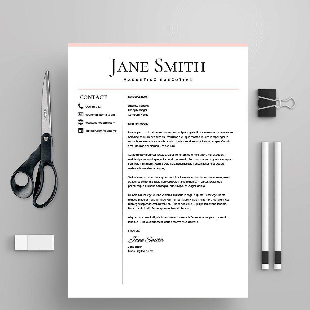 Resume Template/CV Cover Letter #professional#win#Enjoy