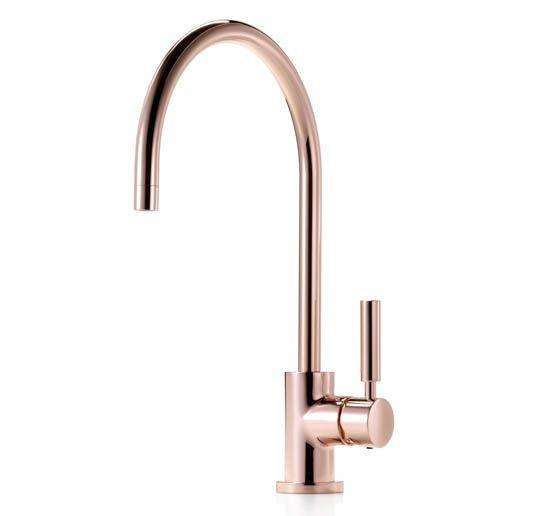 robinets en cuivre le nouveau chic de la cuisine meubles architectures objets design. Black Bedroom Furniture Sets. Home Design Ideas
