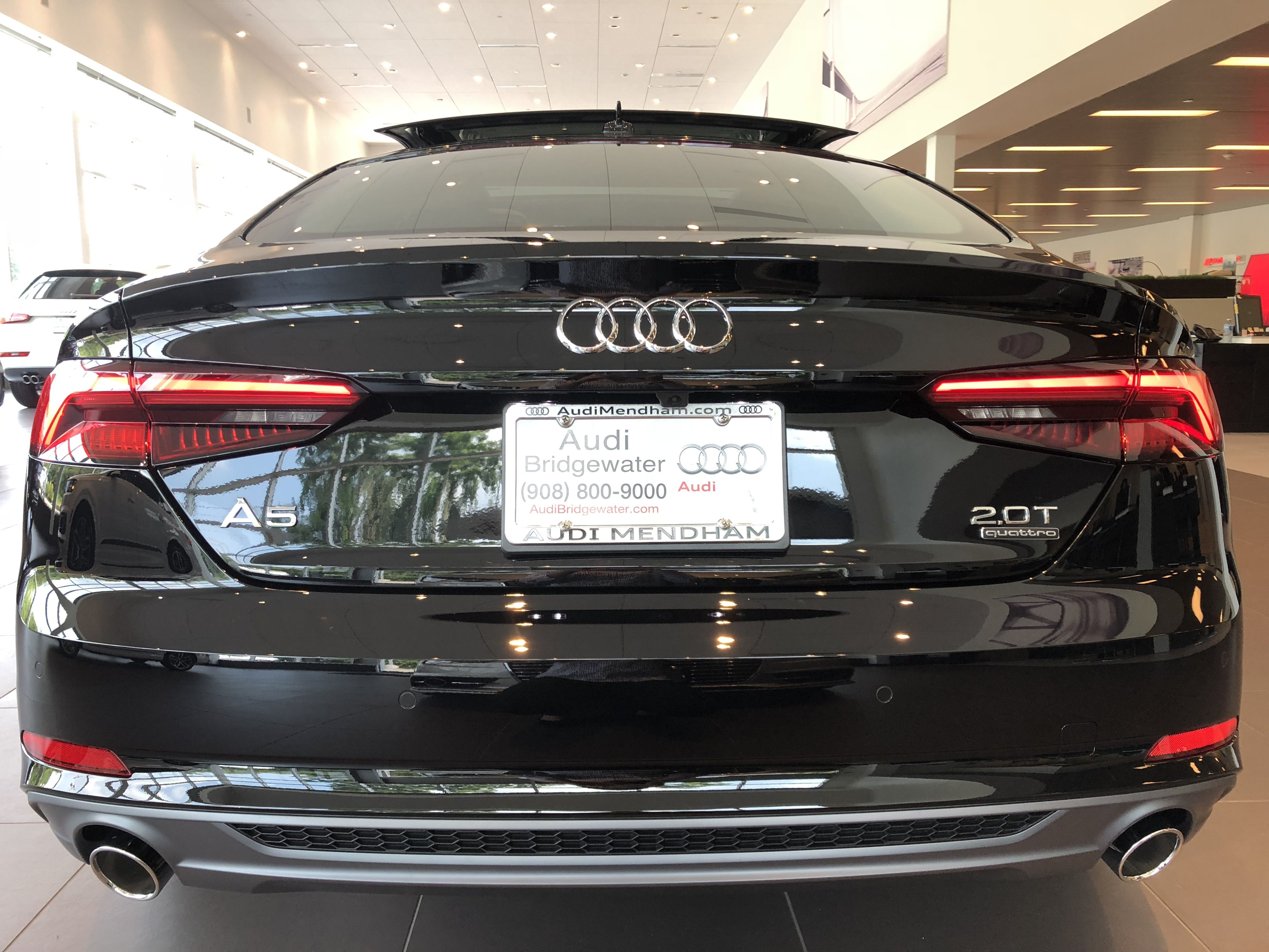 Rear View Of The 2018 Audi A5 In Brilliant Black Vehicle
