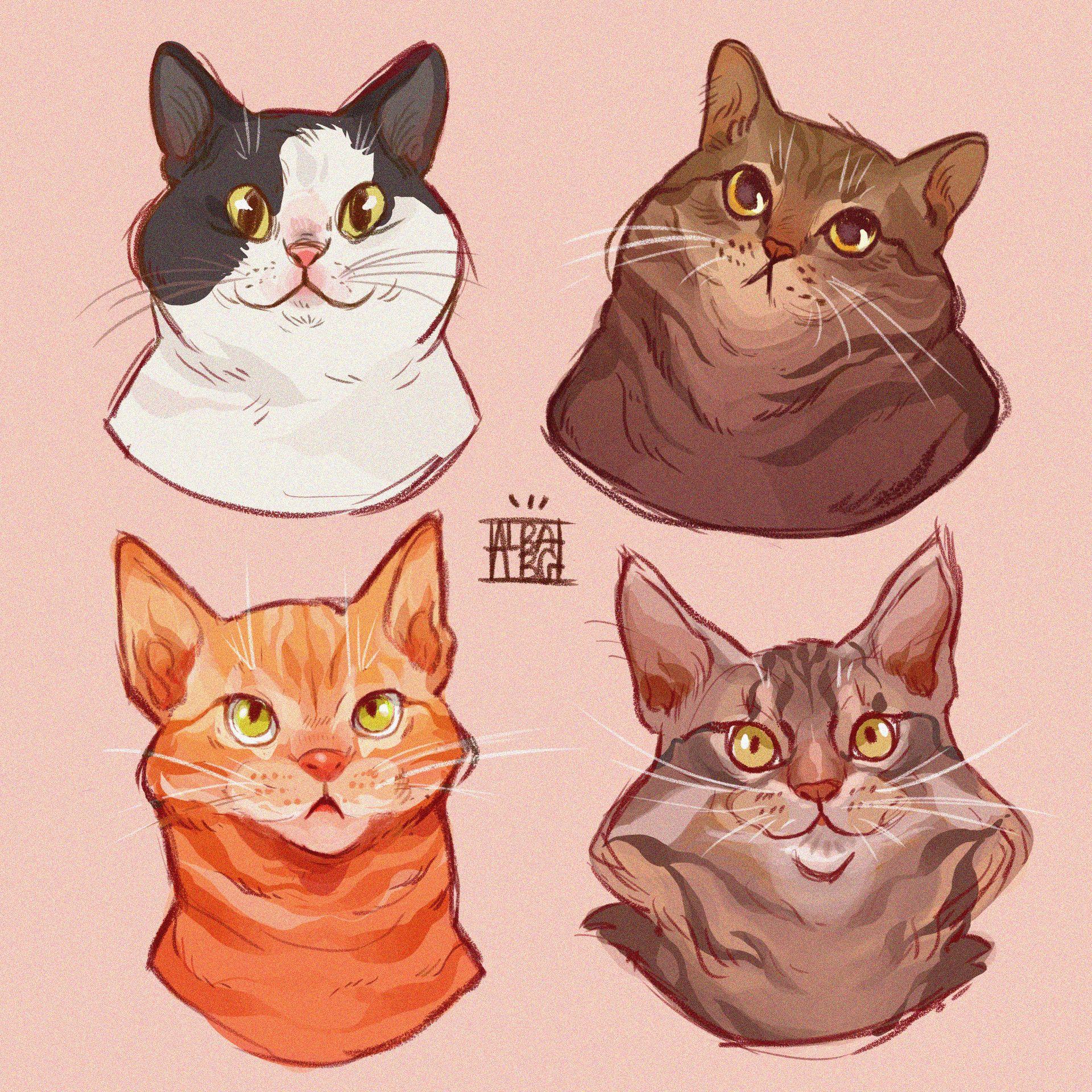 Artstation All My Cats Alba Ballesta Gonzalez Cat