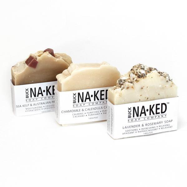 Handmade Soap Bars by Buck Naked Soap Co #soappackaging