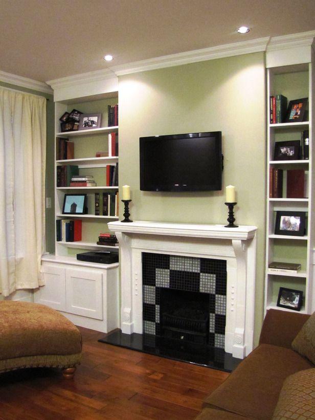 Fireplace Design fireplace bookshelves : Money-Saving Remodels From Money Hunters | Granite hearth, Wood ...