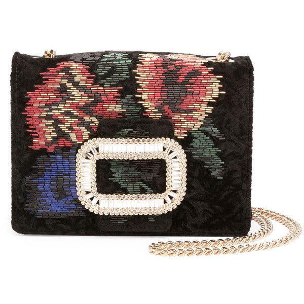 9e3423fd58 Roger Vivier Pilgrim Beaded Micro Chain Shoulder Bag (18