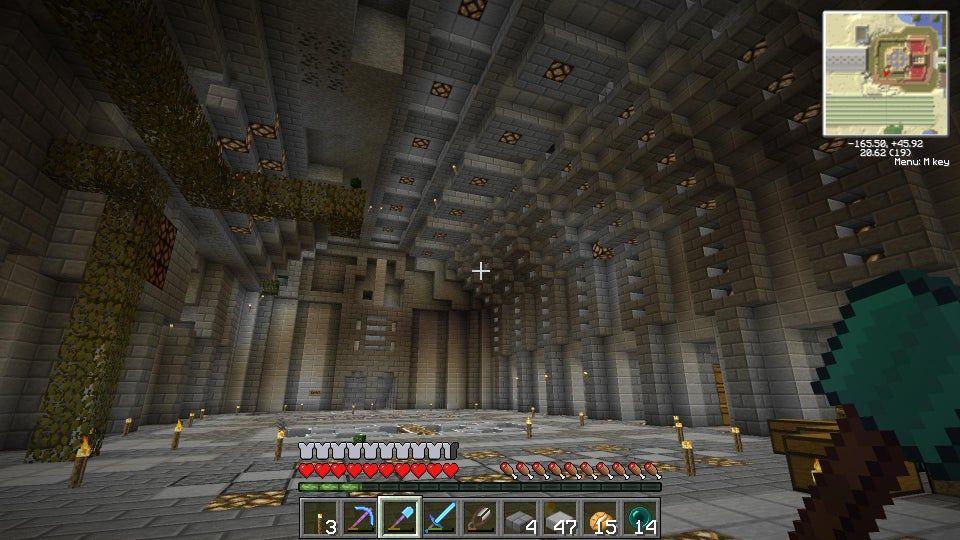 Underground Minecraft Storage Room Design