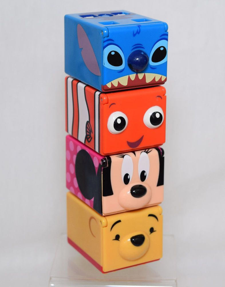 Details About 4 Disney Cubee Musical Stackable Cubes