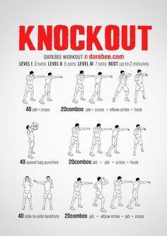 Knockout Workout Shadow Boxing Workout Boxing Training Workout Mma Workout