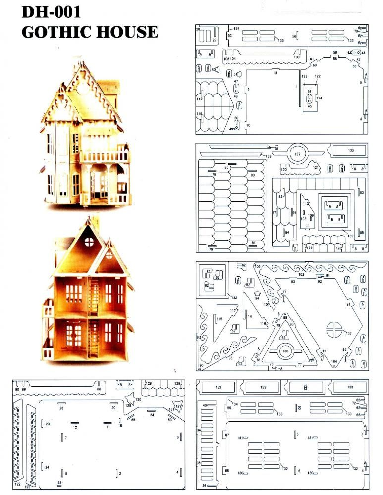 Dxf Plans Downloads Gothic House Leser Doll House Plans