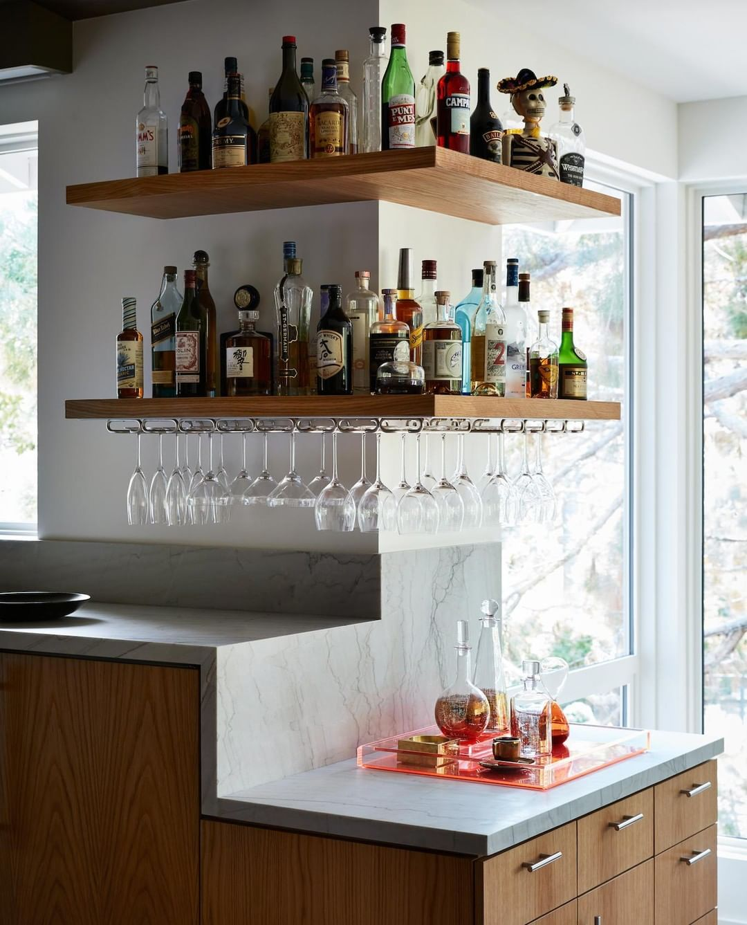 Chroma On Instagram Finding A Little Respite From The Work Week In This Home Bar From Our Northern California Col Colourful Shutters Home Remodeling Home Bar