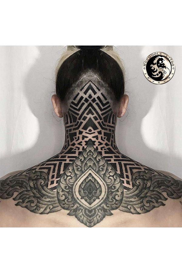 Neck tattoo for women by tattoo artist Jondix   Wormhole Tattoo- Best choice for tattoo artists   #jondix #tattooing #tattooist #tattoosforme #inkedtattoo #tattoos #necktattoos #tattooedmen #inkedmen #tattooedmen #tattooideas #tattoodesigns #tattoomodels #besttattoostyles #bodyart #skinart #tattooart #blackandgraytattoos #tattoopinterest #tattooflash   And we are posting a lot of tattoo tutorials on my YouTube channel