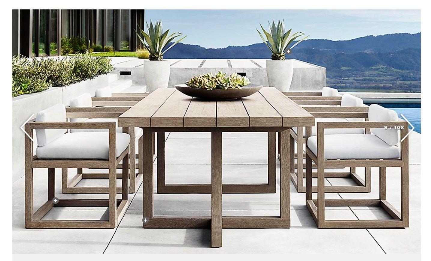 Restoration Hardware Modern Outdoor Dining Outdoor Dining Furniture Modern Outdoor Furniture
