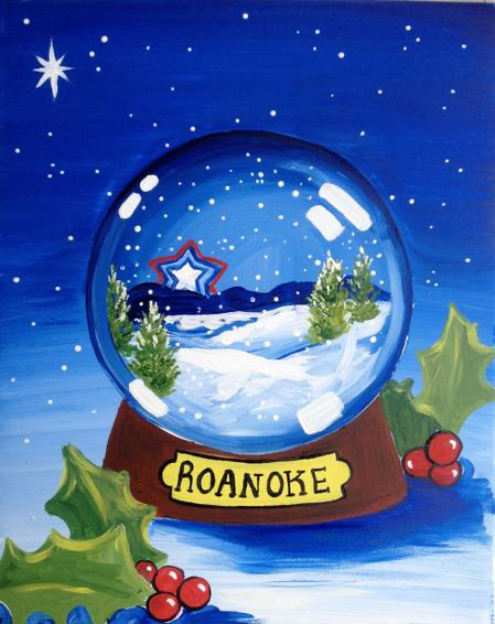 Star City Snow Globe at Mr. P's Neighborhood Grill, Roanoke, VA, US | Yaymaker,  #City #Globe...,  #City #Globe #Grill #Neighborhood #Roanoke #snow #star #Winterbilderleinwand #Yaymaker