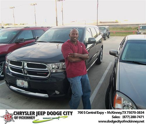 Dodge City of McKinney would like to say Congratulations to Carl Walton-Stanley on the 2013 Dodge Durango