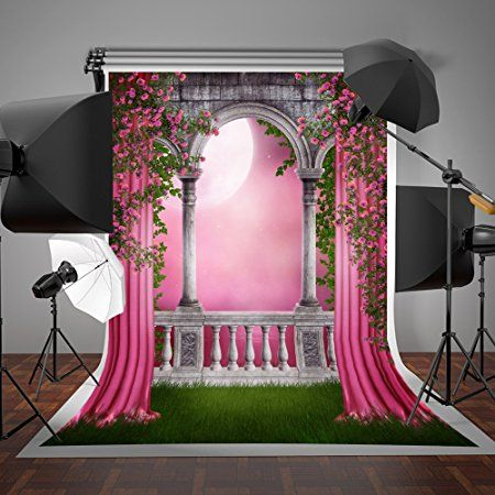 Landscape 10x12 FT Backdrop Photographers,Modern Design Empty House with Mountain Ocean Scenery Background for Photography Kids Adult Photo Booth Video Shoot Vinyl Studio Props