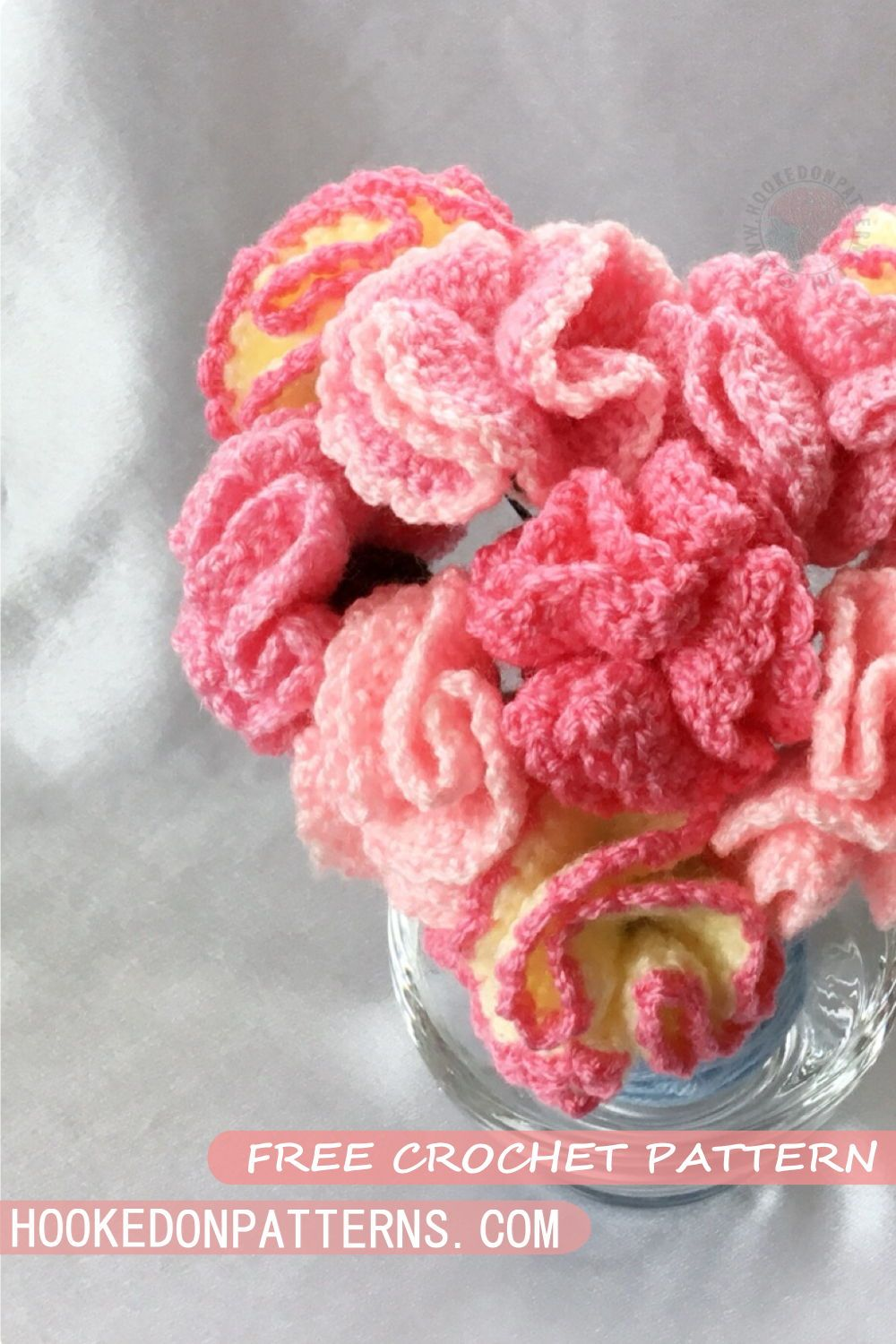 Free Crochet Flowers Pattern for Mother\'s Day Carnations | Flower ...