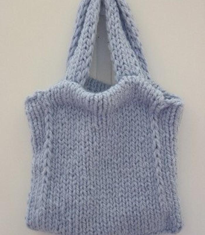 Knitting PATTERN - Knit Tote Bag Pattern | Tote bag patterns, Knit ...