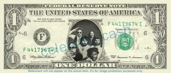 DOOBIE BROTHERS on REAL Dollar Bill Cash Money Bank Note Currency Dinero