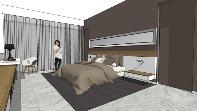 Bedroom 003 3d Warehouse Sketchup Sleep Sketchup Model