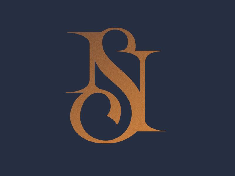 Monogram NS Wedding logo design, Ns logo, Logo design