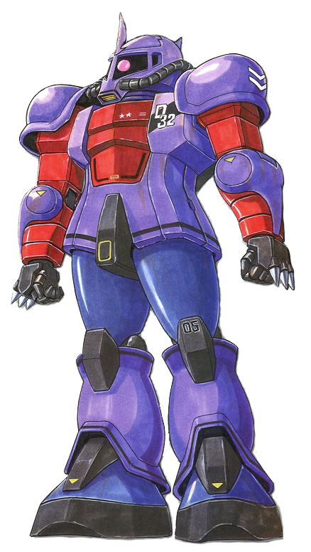 The MS-05Q Zaku I (Norris Custom) is a variant of the MS-05A Zaku I Early Type. It is piloted by Norris Packard from Mobile Suit Gundam: The 08th MS Team. It first appeared as a part of the MSV-R line.