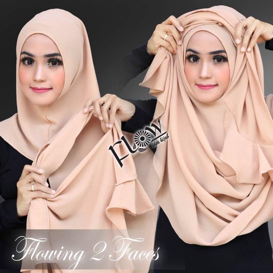 Jilbab Instan 2 Faces Flowing By Flow Idea Original Hijab Instan Jilbab Fashion