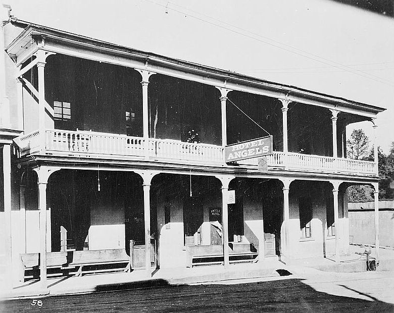 California History Calaveras County Angels Camp Hotel
