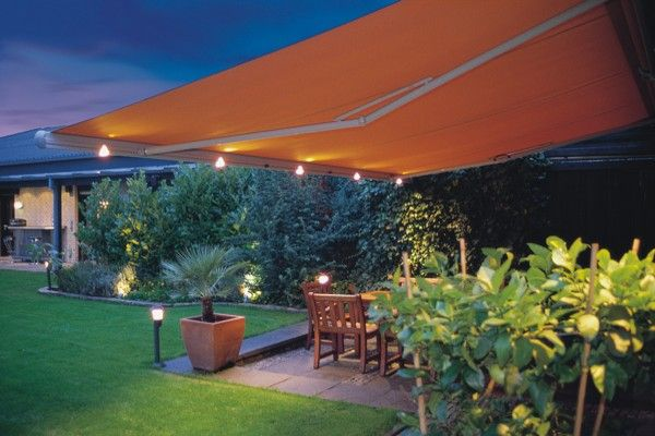 Retractable Awning Markilux 1550 With Lights Patio House Awnings Canopy Outdoor