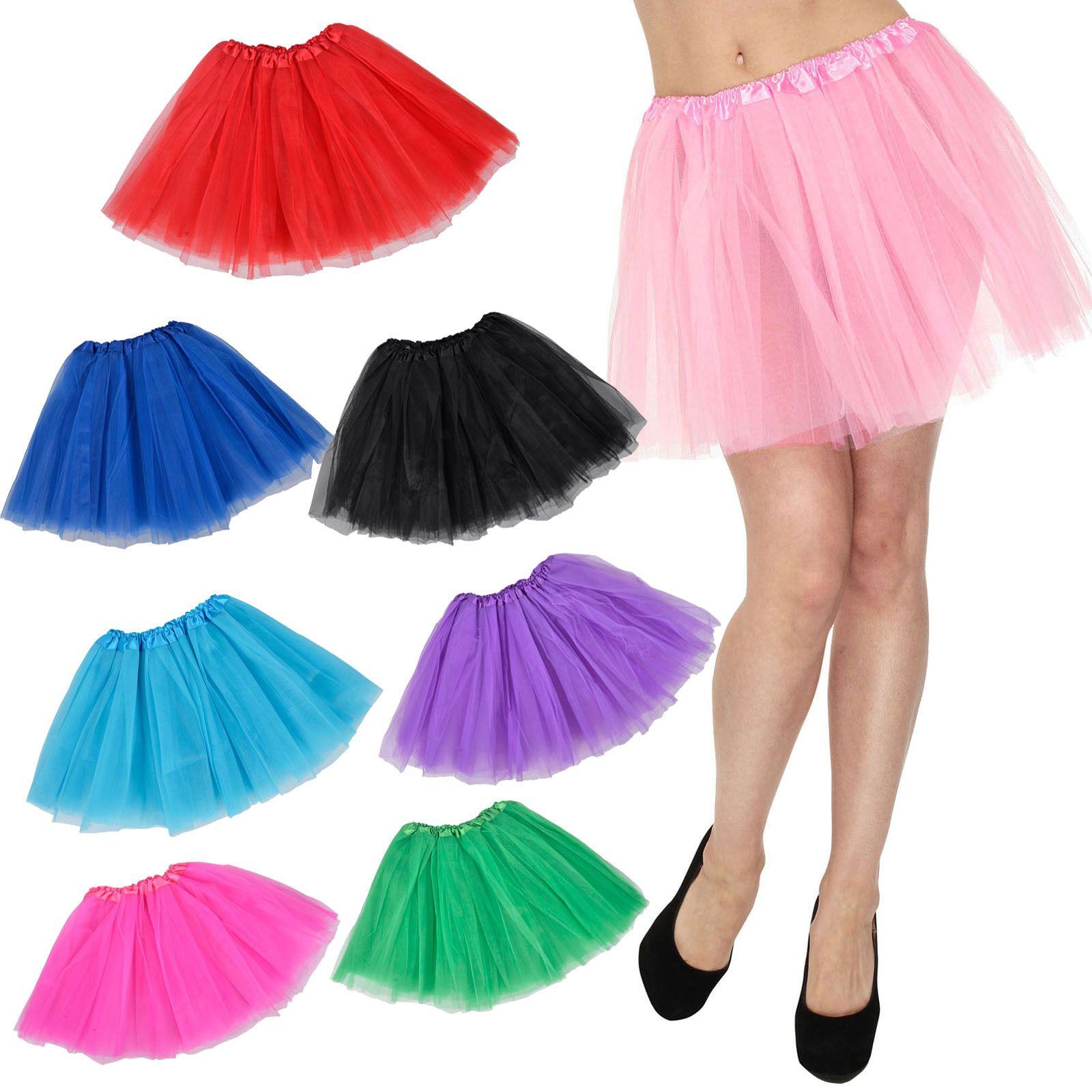 Women Adult Dancewear Tutu Mini Ballet Pettiskirt Princess Party Skirt Costume