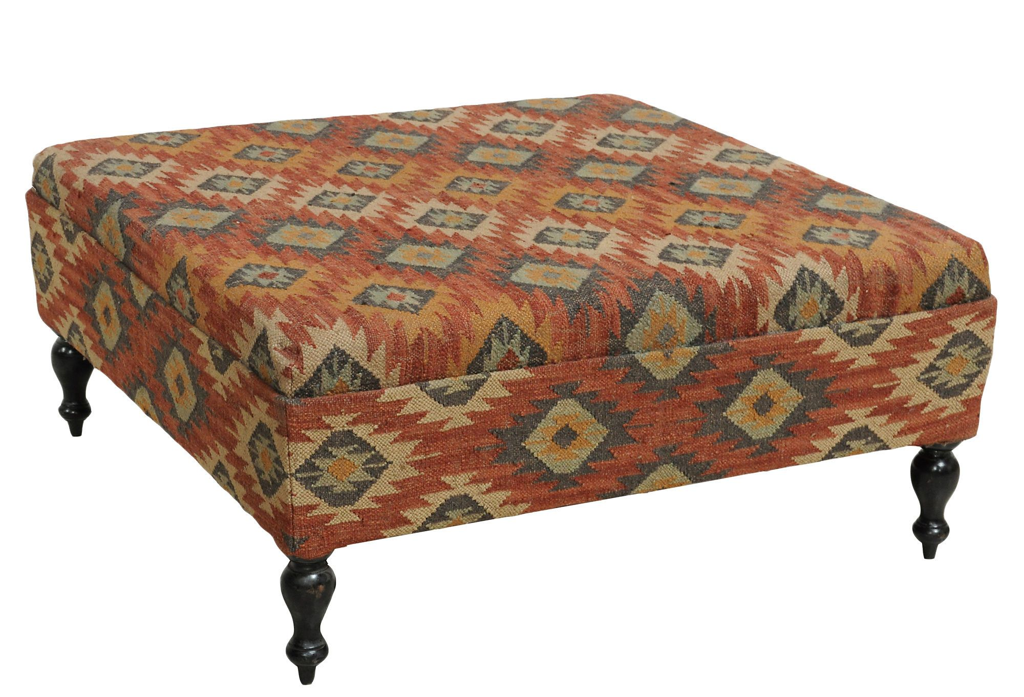 e Kings Lane Real Cabin Style Pasha Kilim Coffee Table