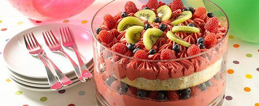 Fruit Punch Bowl Cake-1 box Duncan Hines French Vanilla ...