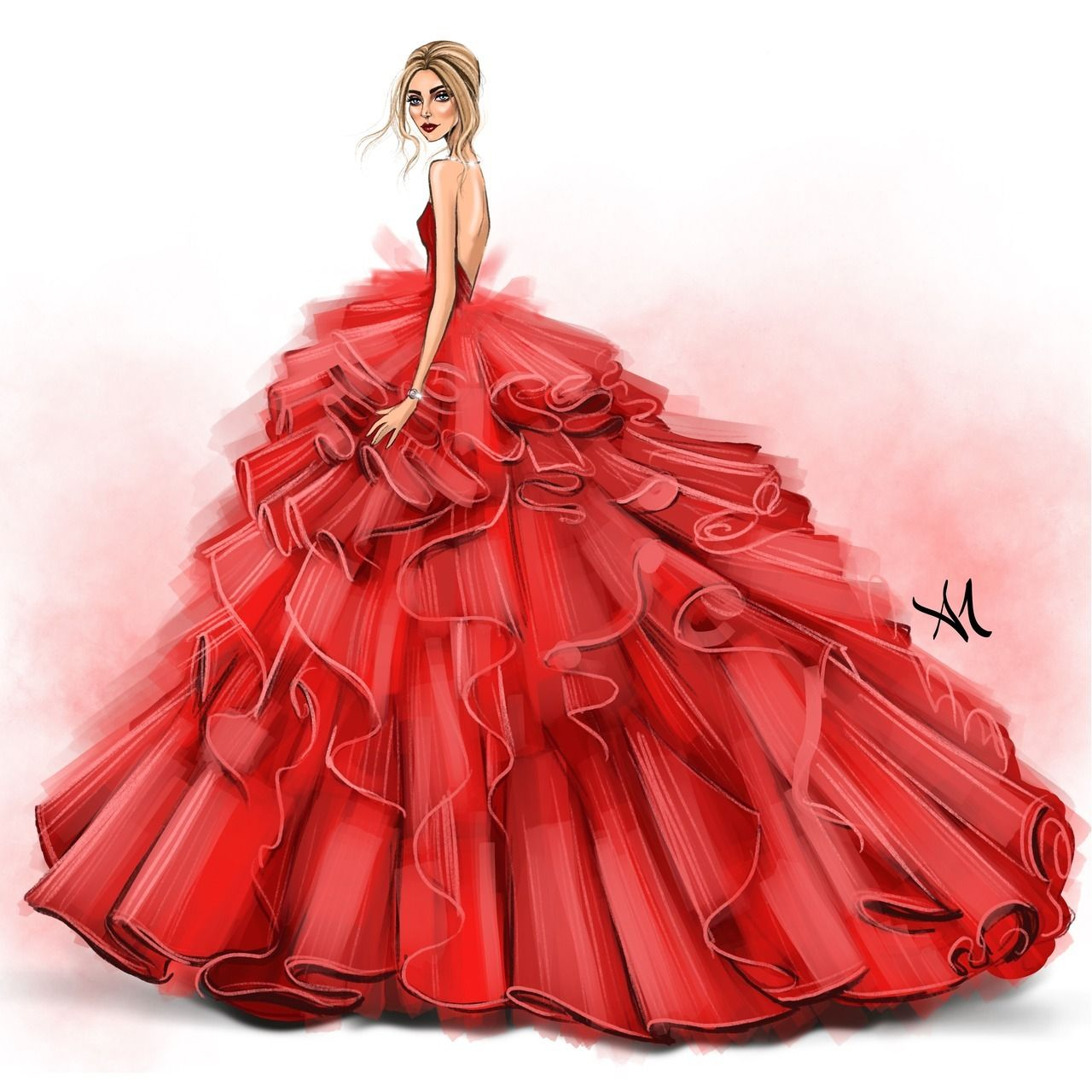 Chiara Ferragni By Armand Mehidri Https Www Instagram Com P Bqflz8eanm4 Fashion Design Dress Dress Design Sketches Dress Illustration