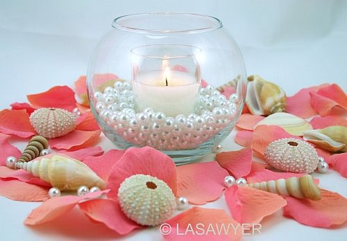 This is cute. No flower petals, no sea shells, and perhaps a coral candle!