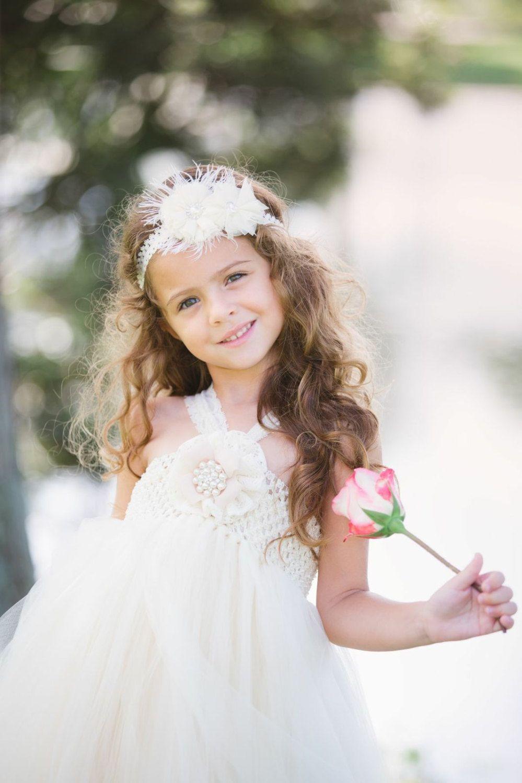 Flower girl dress vintage flower girl dress ivory by trendybambini