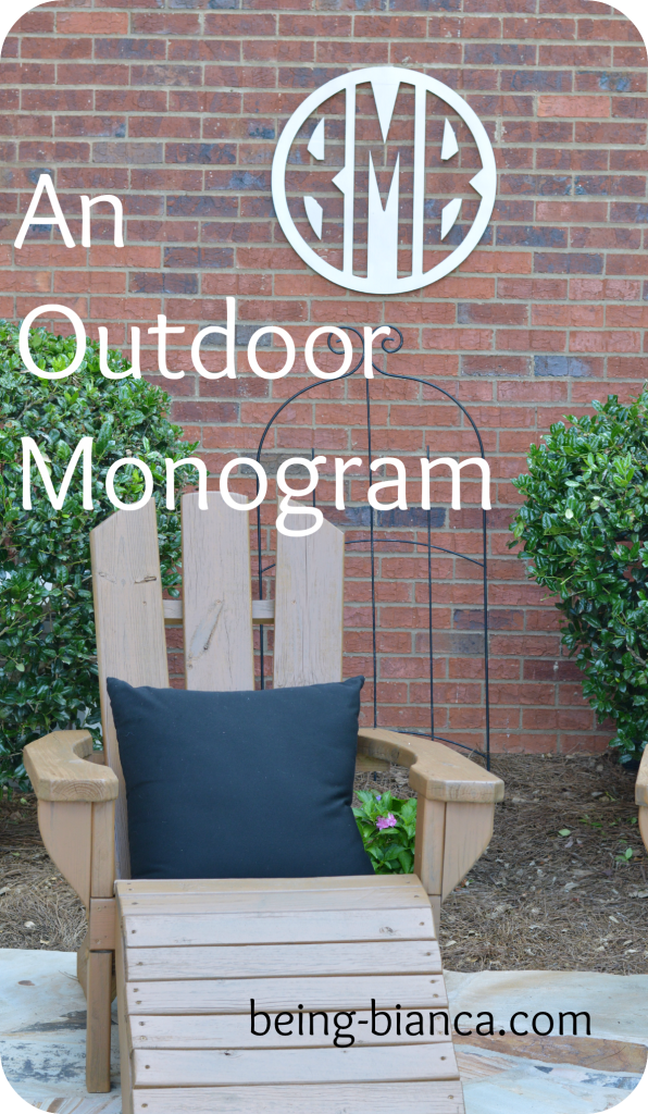 Bring the indoors outdoors!  Add a wooden monogram to your patio or outdoor living space.  Tons of cute DIY ideas in this space (on a budget, too!)