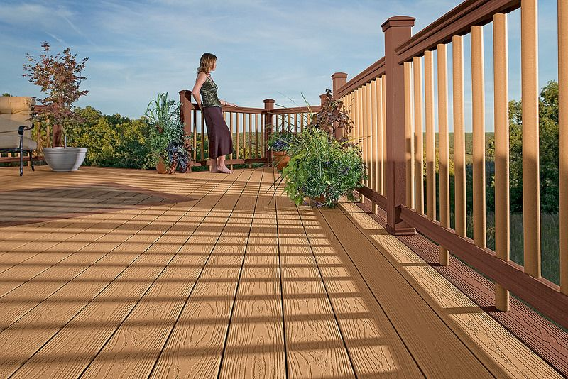 Best Tamko Evergrain Cedar Saddlebrooke 1 Composite Decking Deck New Deck 400 x 300