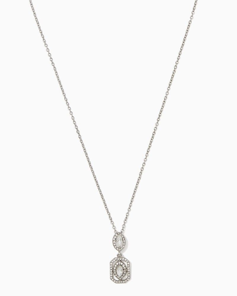 Charming charlie resplendent marquise pendant necklace upc