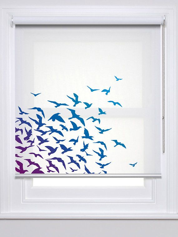 Seabirds Photo Printed Window Custom Made Roller Blind Sum30 Roller Blinds Curtains With Blinds Wooden Blinds Kitchen