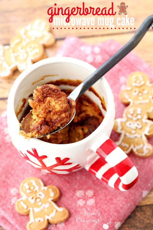Gingerbread Microwave Mug Cake - Kim's Cravings