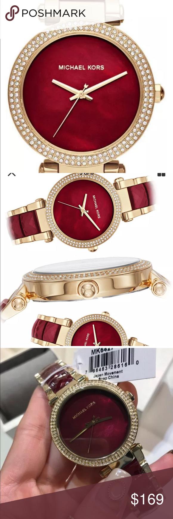 8c365b7da07 Michael Kors MK6427 Parker watch❤ New Michael Kors MK6427 Parker gold   garnet watch beautiful Box included 💕 Michael Kors Accessories Watches