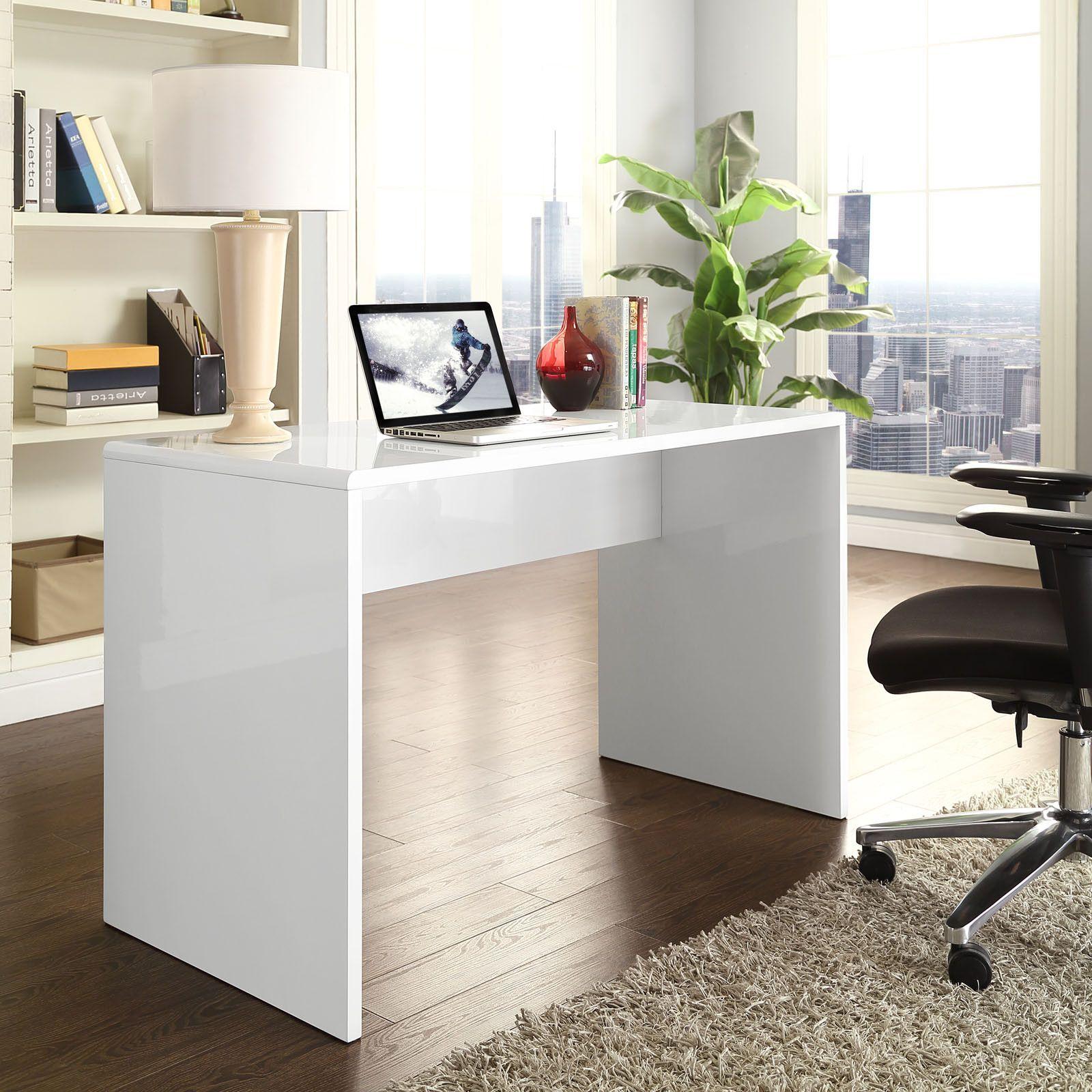 Brim Office Desk White White Desk Office Office Desk Desk