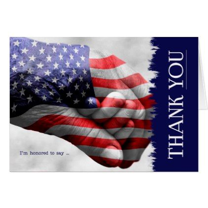 Stars And Stripes Hand In Hand Thank You Blank Zazzle Com You Are My Hero Armed Forces Stripes