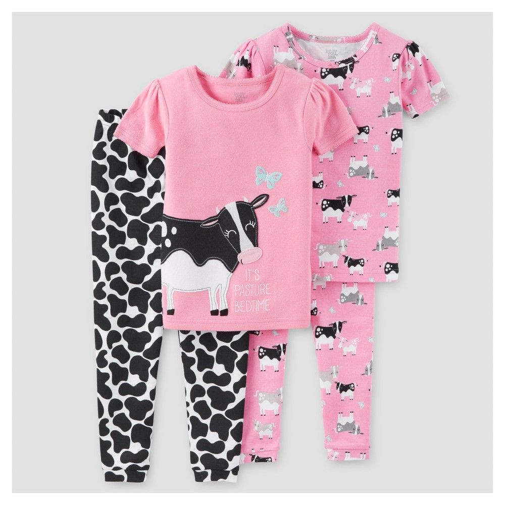 3bb2736bb8ef Baby Girls  4-Piece Snug Fit Cotton Pajamas Cows 18M - Just One You Made by  Carter s