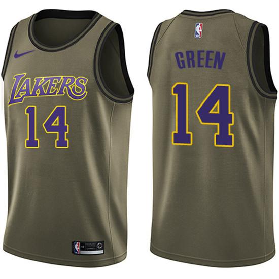 2020 Nike Lakers 14 Danny Green Green Nba Swingman Salute To Service Jersey In 2020 La Lakers Jersey Los Angeles Lakers Cheap Nba Jerseys