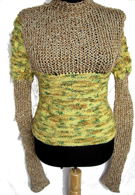 Crochet Shawl Pin Wool Fiber Knitting Sweater Gold Spiral