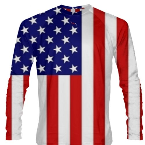 07827872c American+Flag+Long+Sleeve+Soccer+Jerseys | long sleeve soccer ...